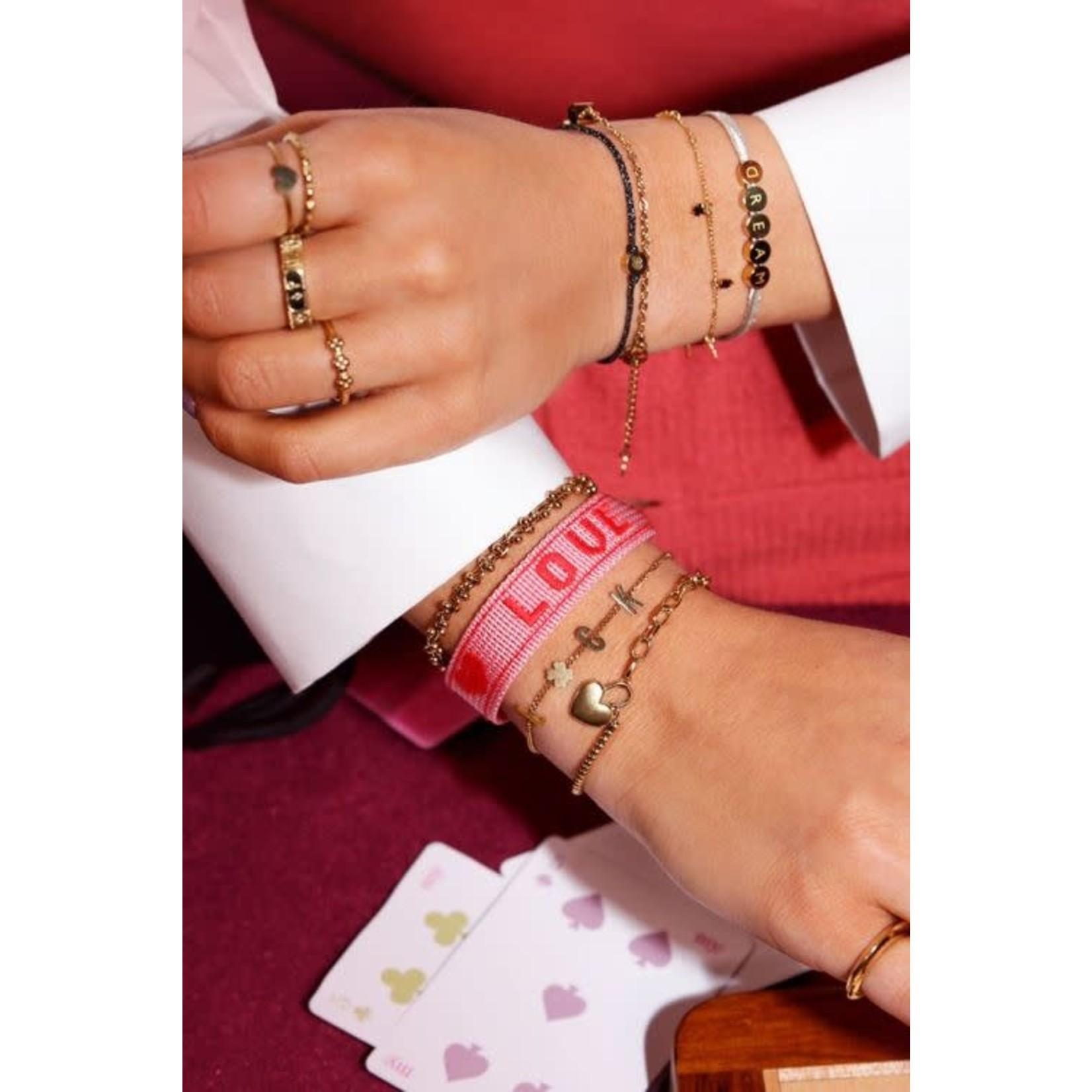 MY JEWELLERY armband hartjes slot ZILVER