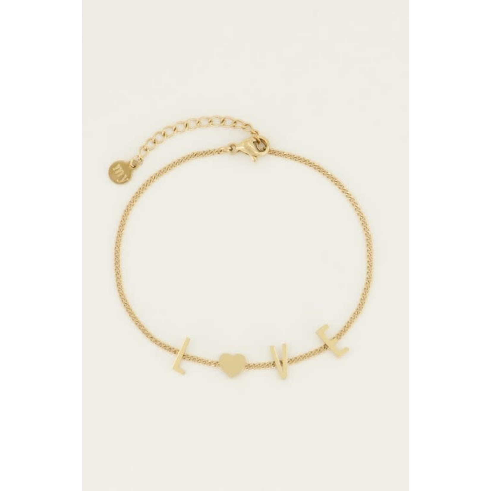 MY JEWELLERY Armband love letters GOUD