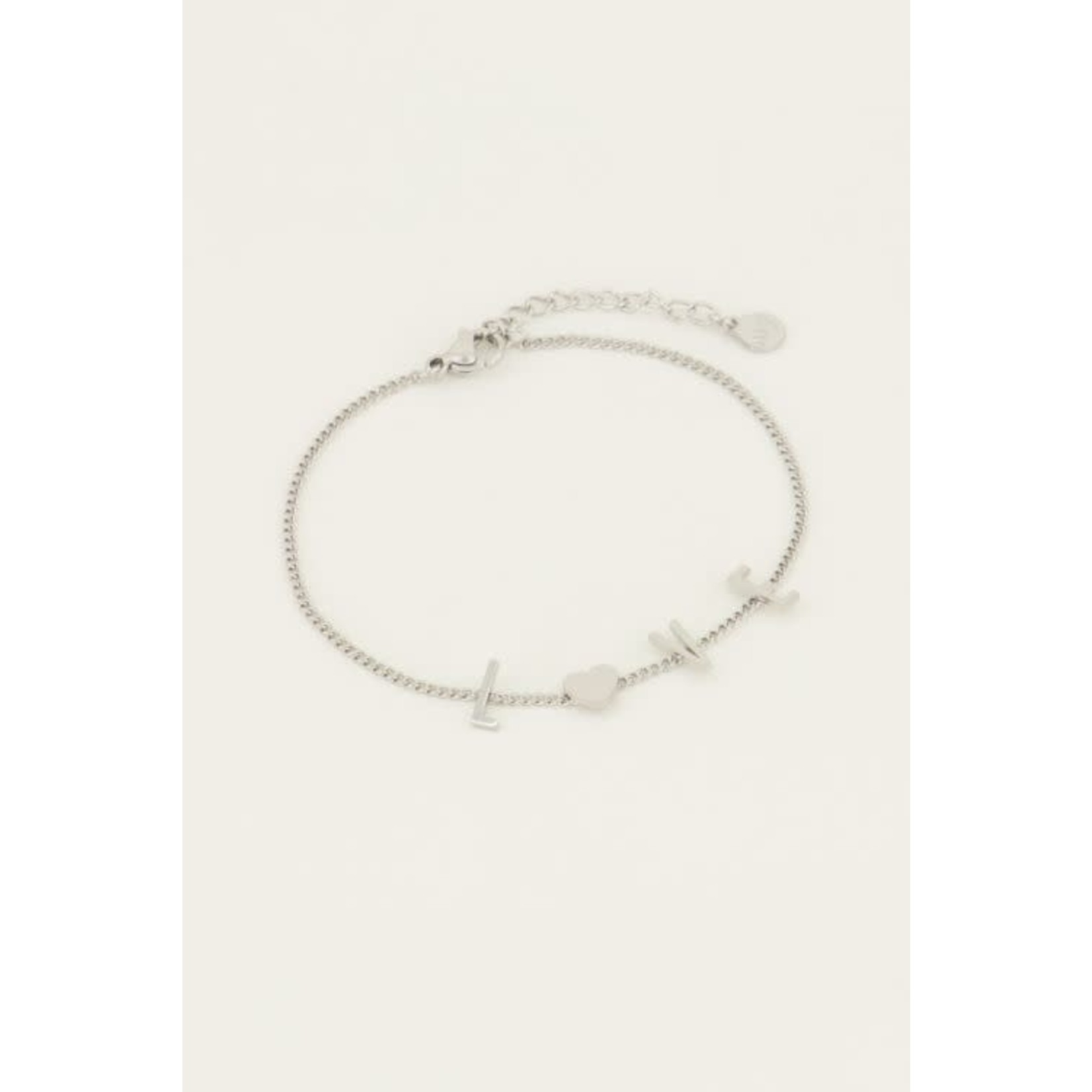 MY JEWELLERY Armband love letters ZILVER