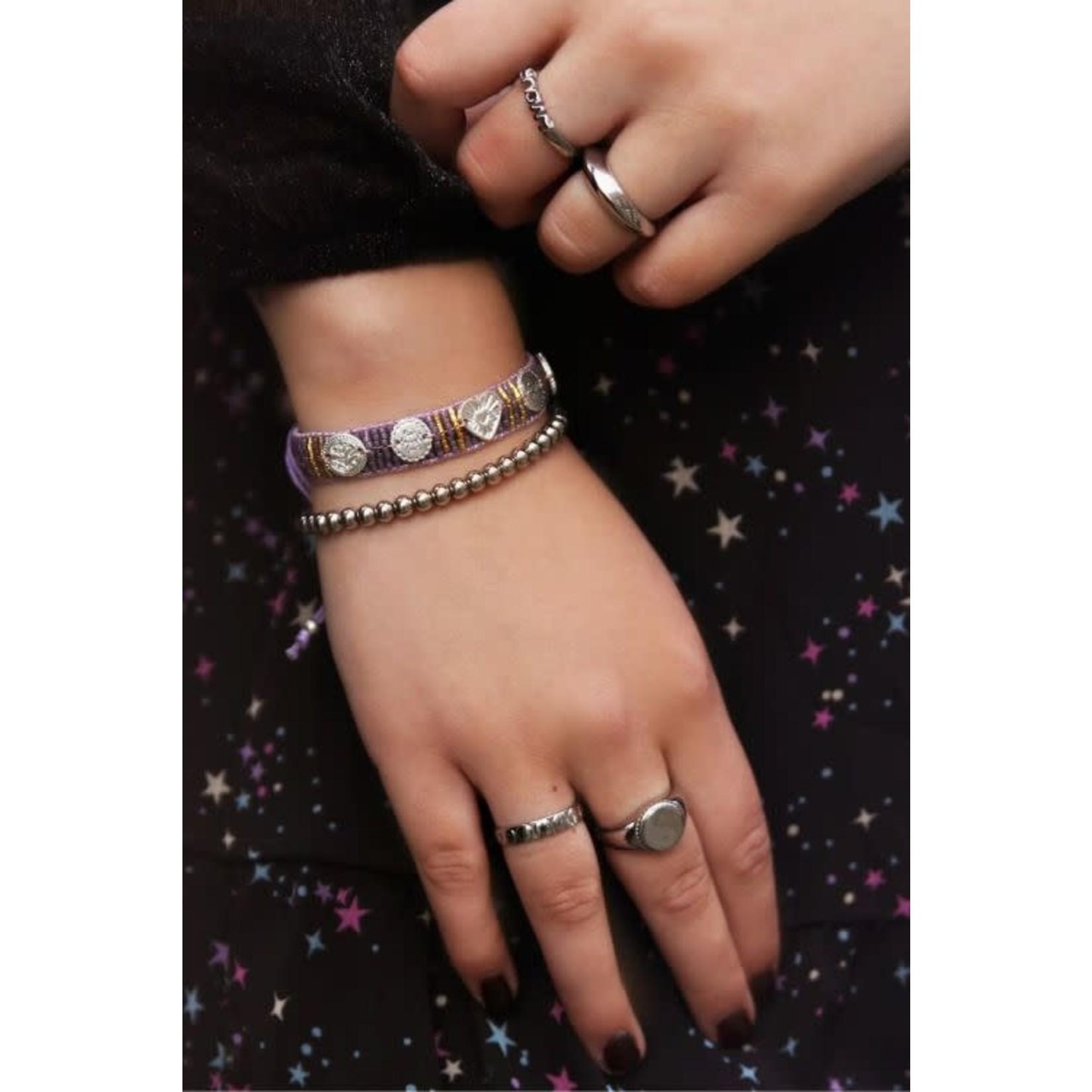 MY JEWELLERY Lila armband bedels & kraaltjes GOUD