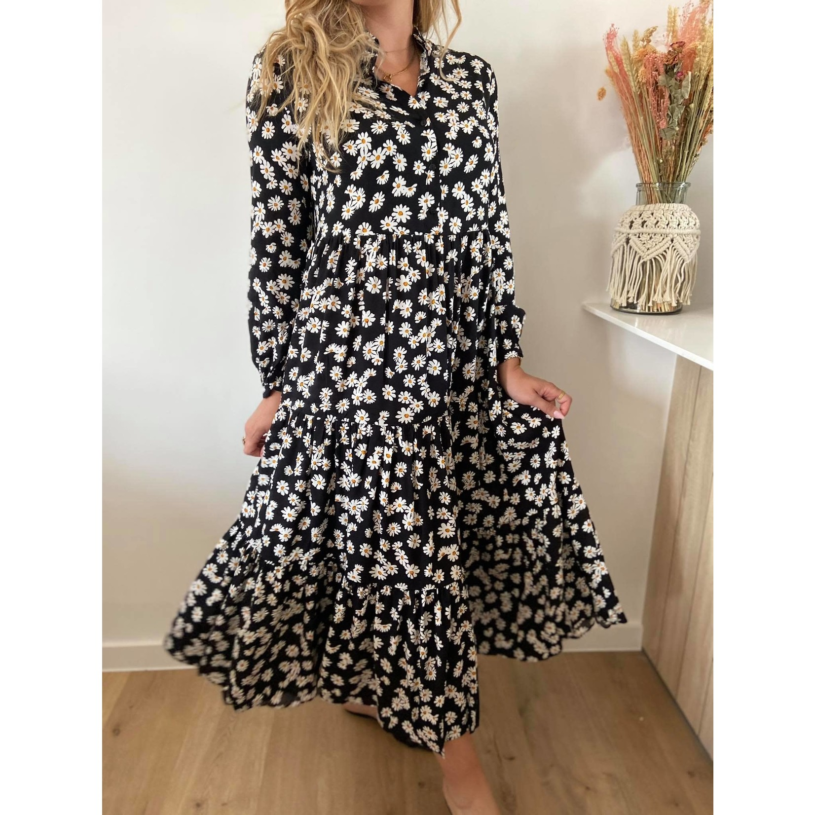 Sano black flower dress