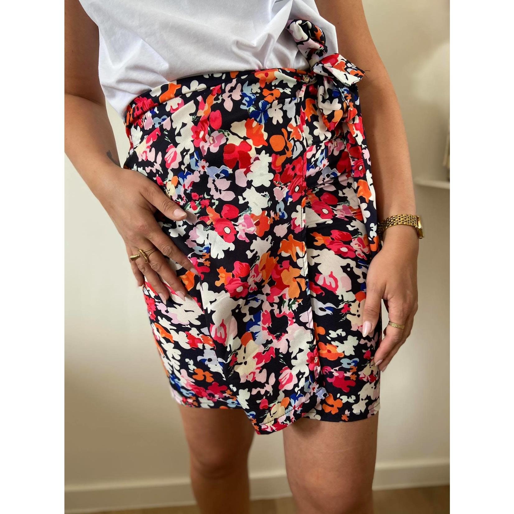 Lora red flower skirt TU