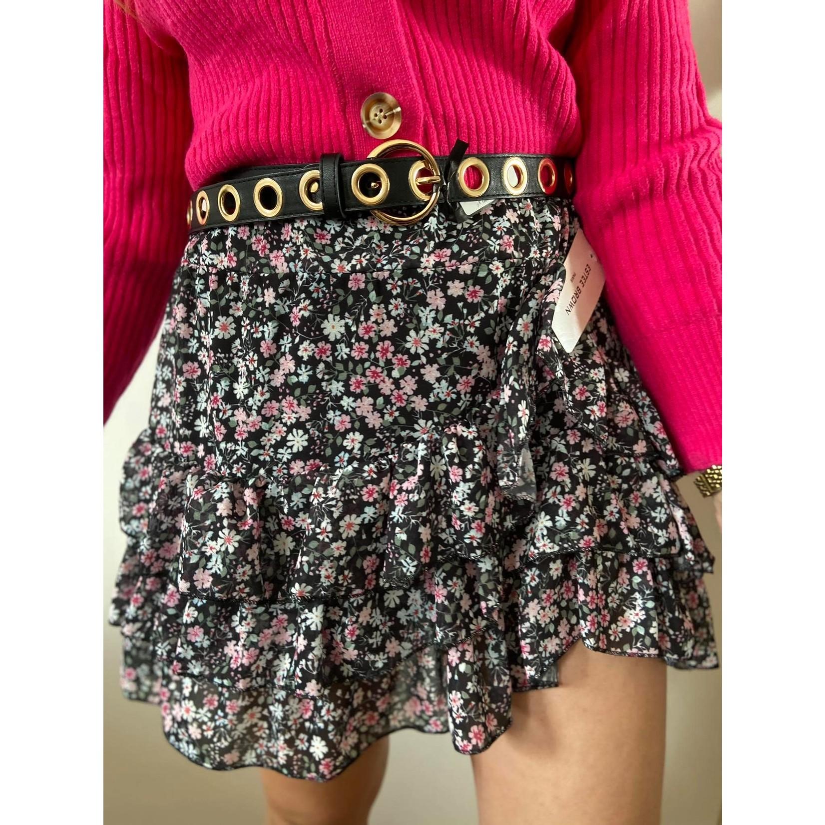 Clau black skirt flower TU