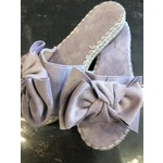 Knotted mule espadrille lila