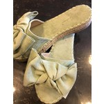 Knotted mule espadrille mint