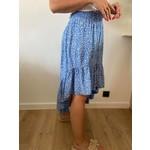Telma asymmetric skirt blue print
