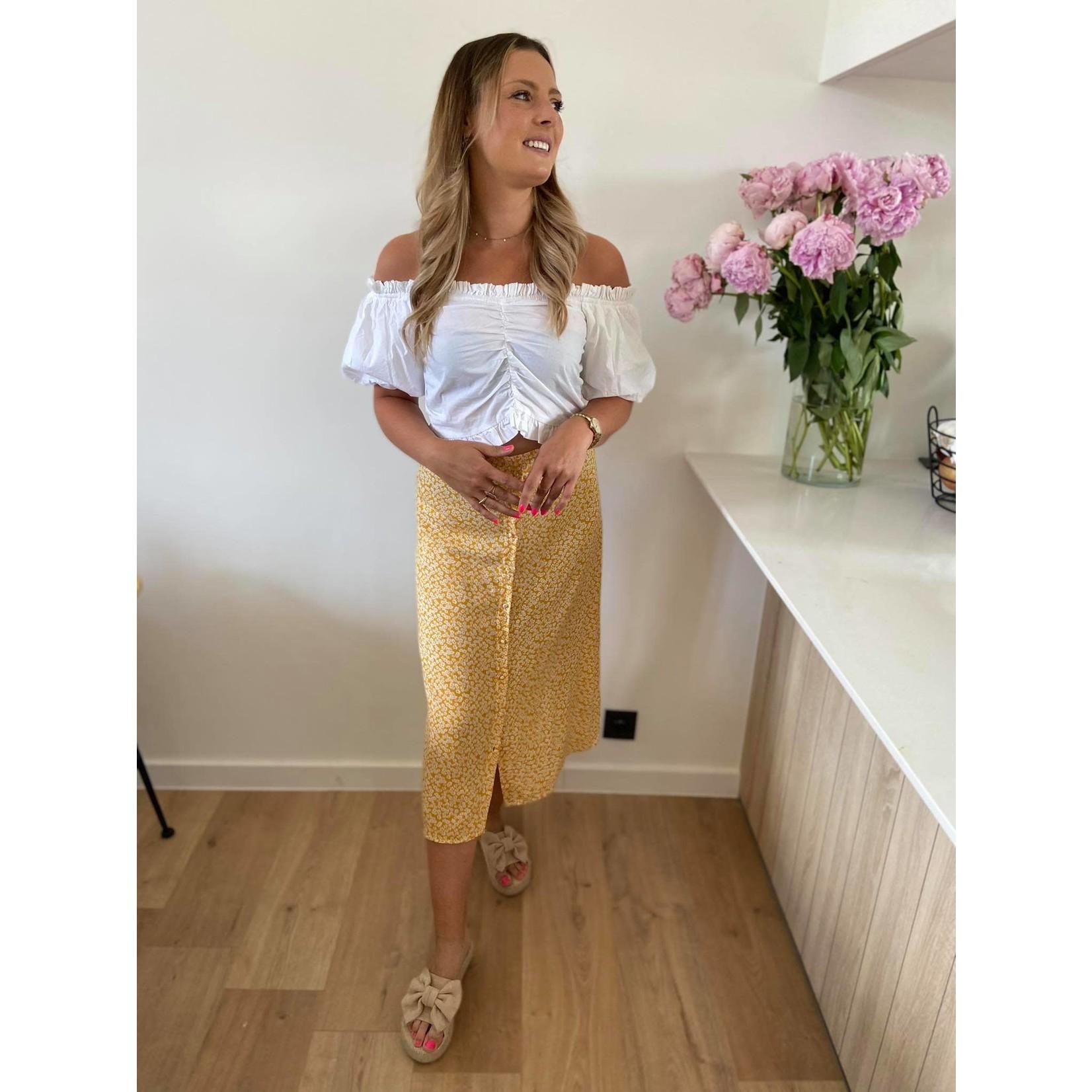 Isabelle skirt yellow flower