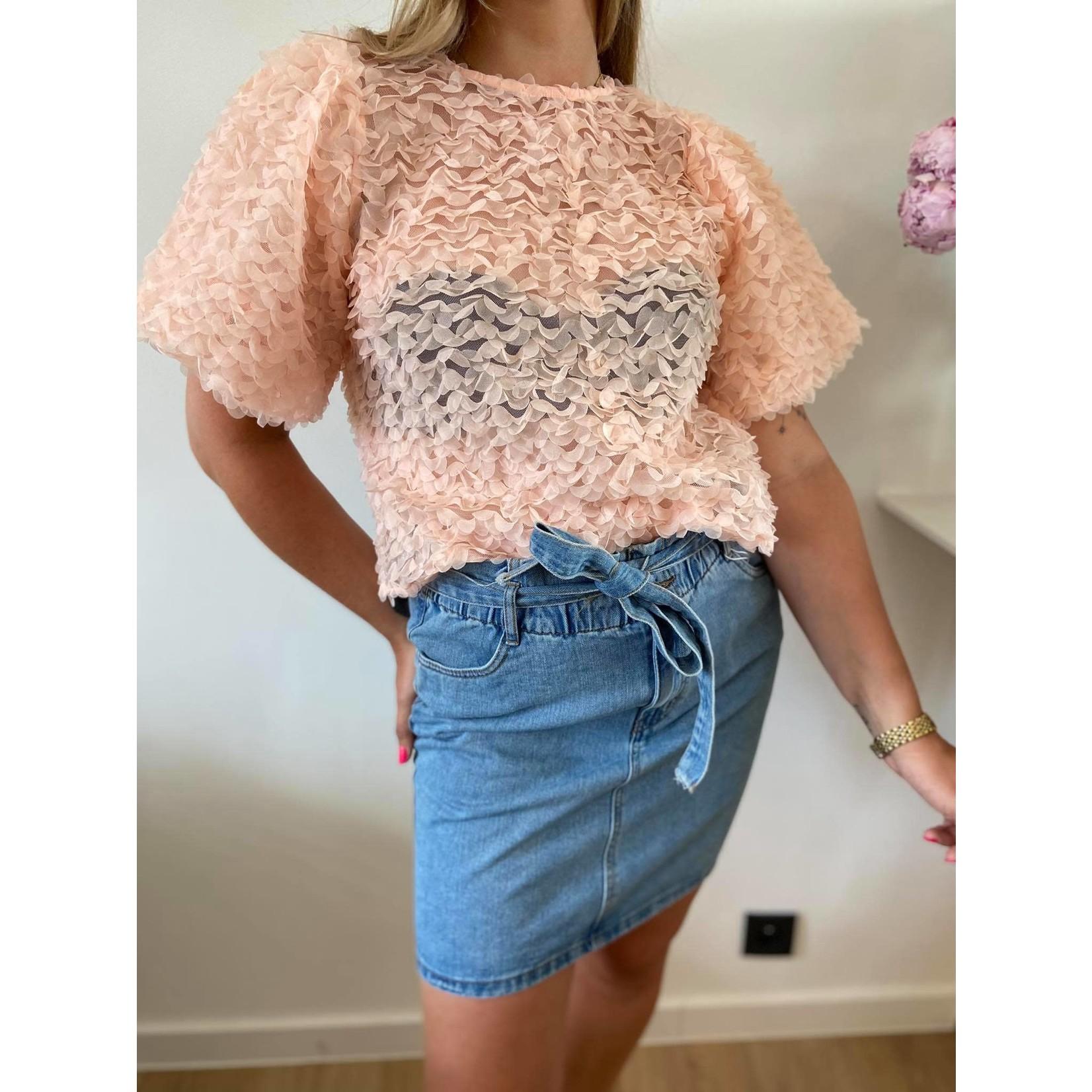 Daniella paper waist skirt denim