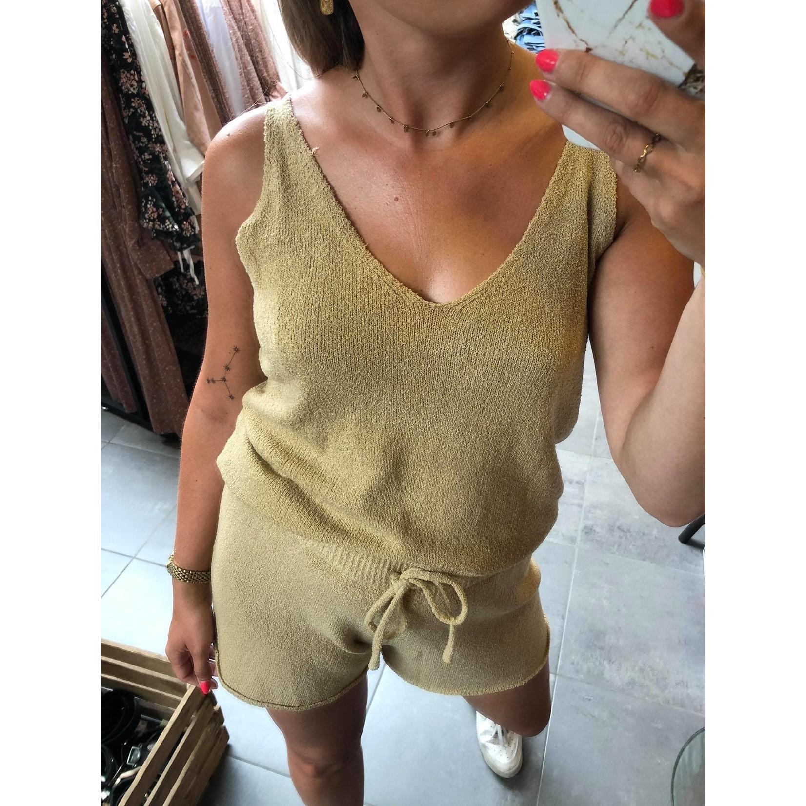 Alma knit singlet beige