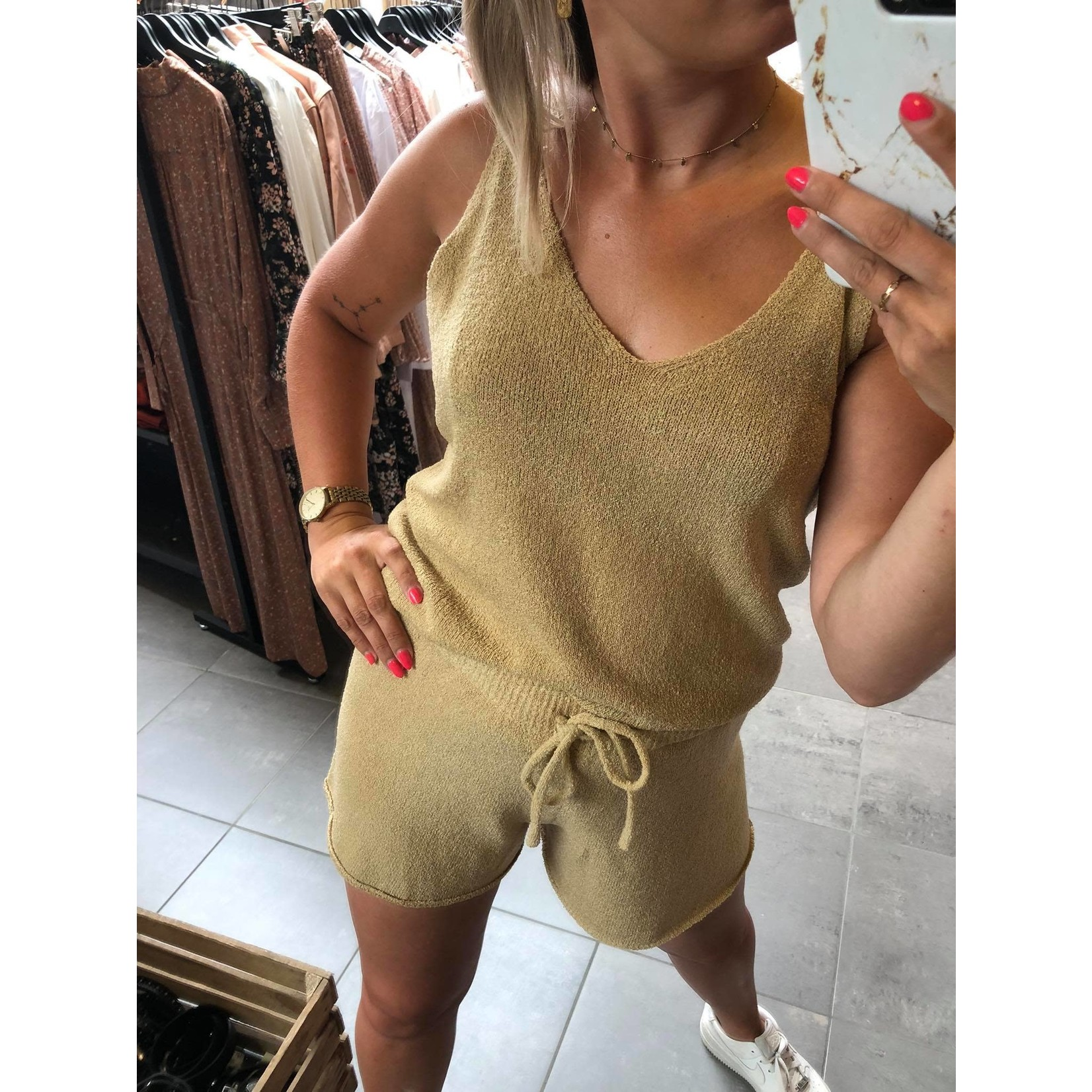 Alma knit short beige