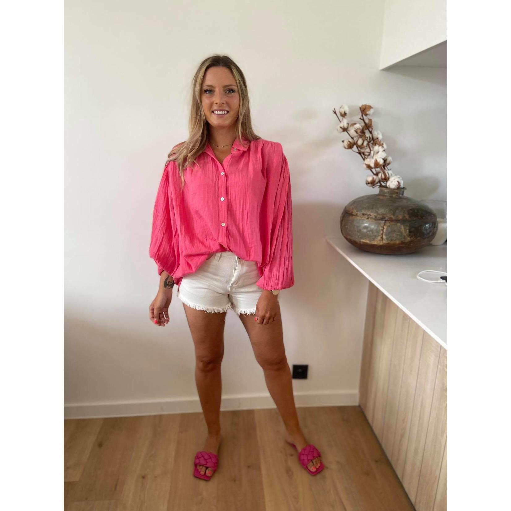 Tetra blouse fuchsia TU