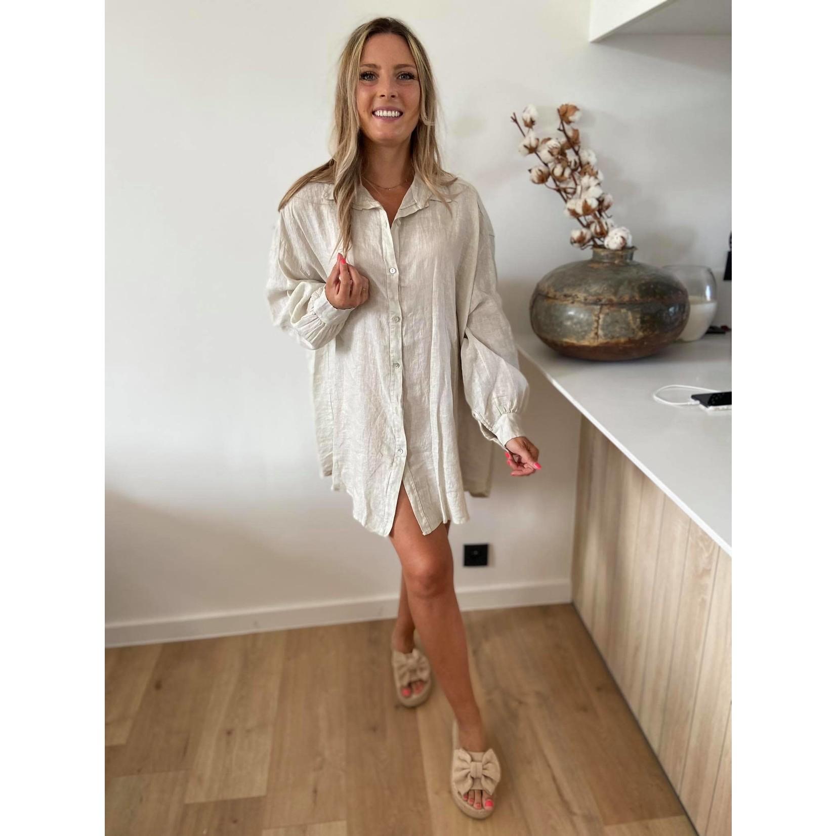 Linnen jurk Mona beige TU