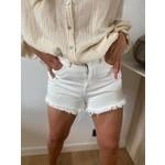 Samira denim short off white
