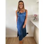 Nadja strap dress dusty blue