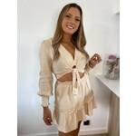 Tetra blouse detail beige