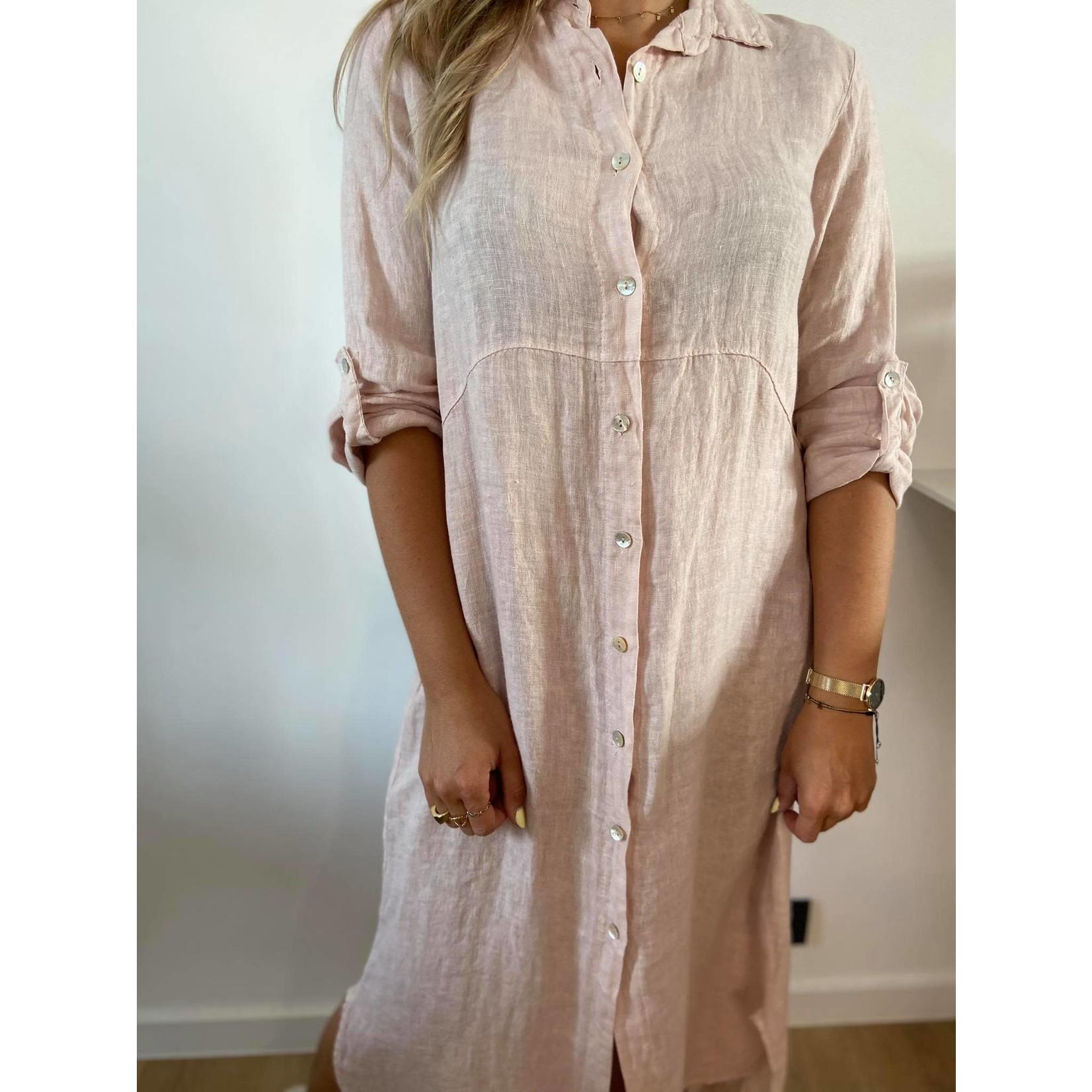 Ornella linnen dress pink TU