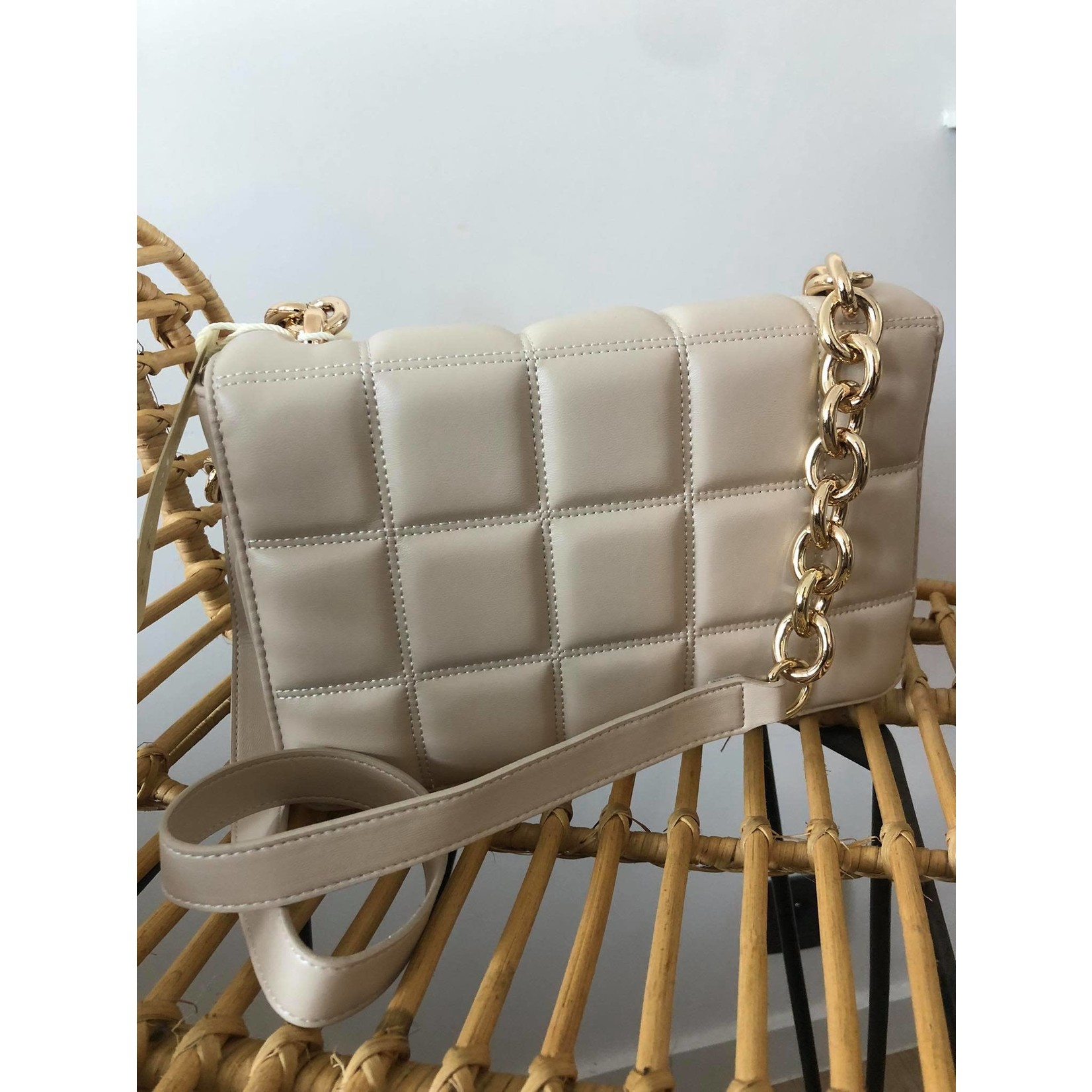 Quilted bag beige