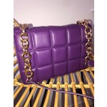 Quilted bag paars