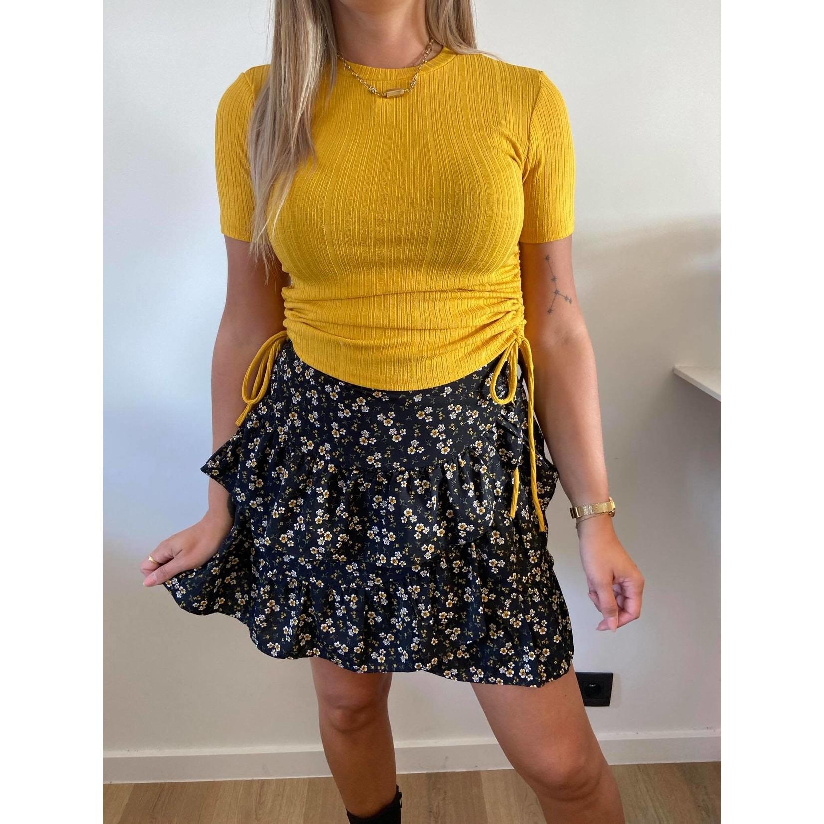 Skirt Ivana yellow/black
