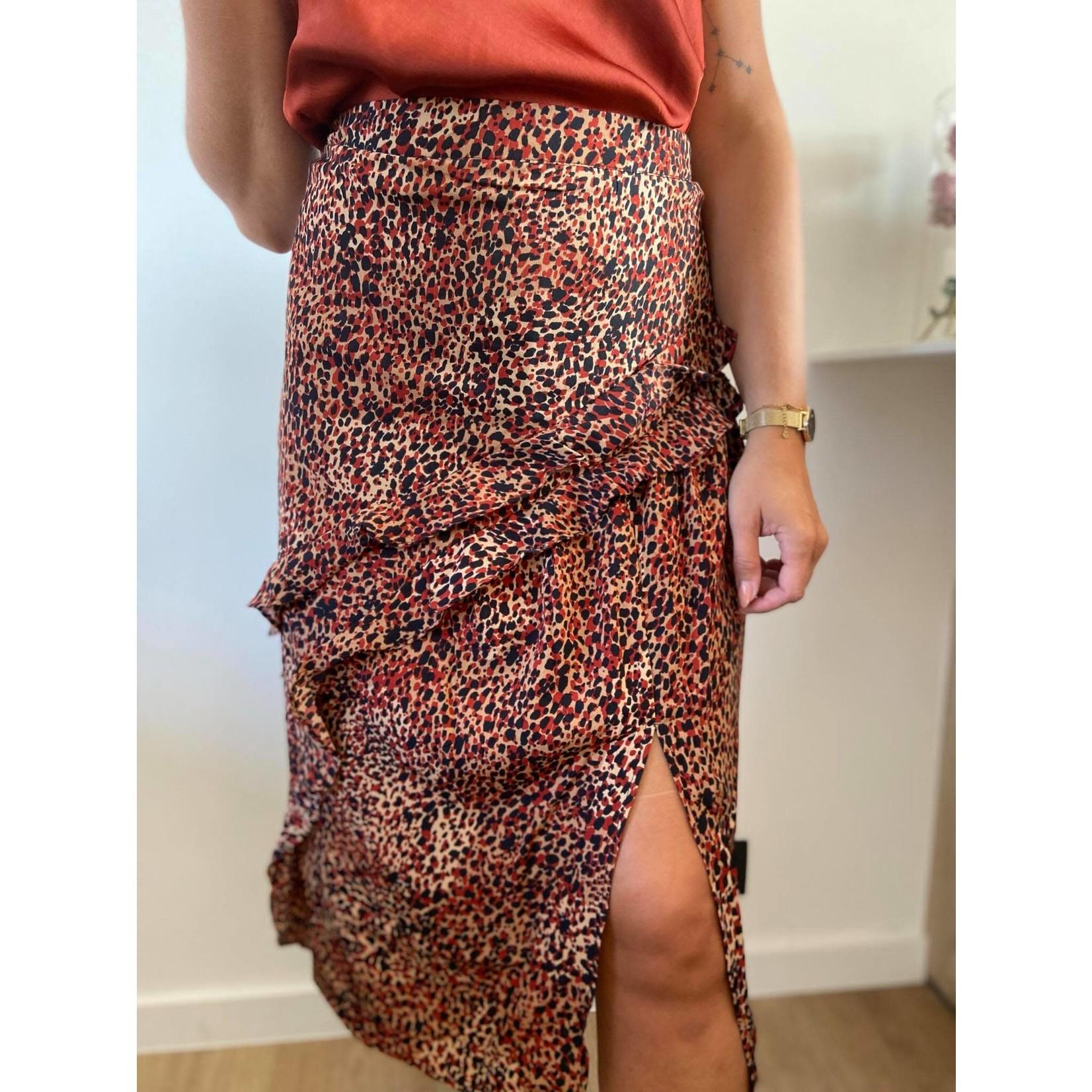 Skirt Evelyne rust/black