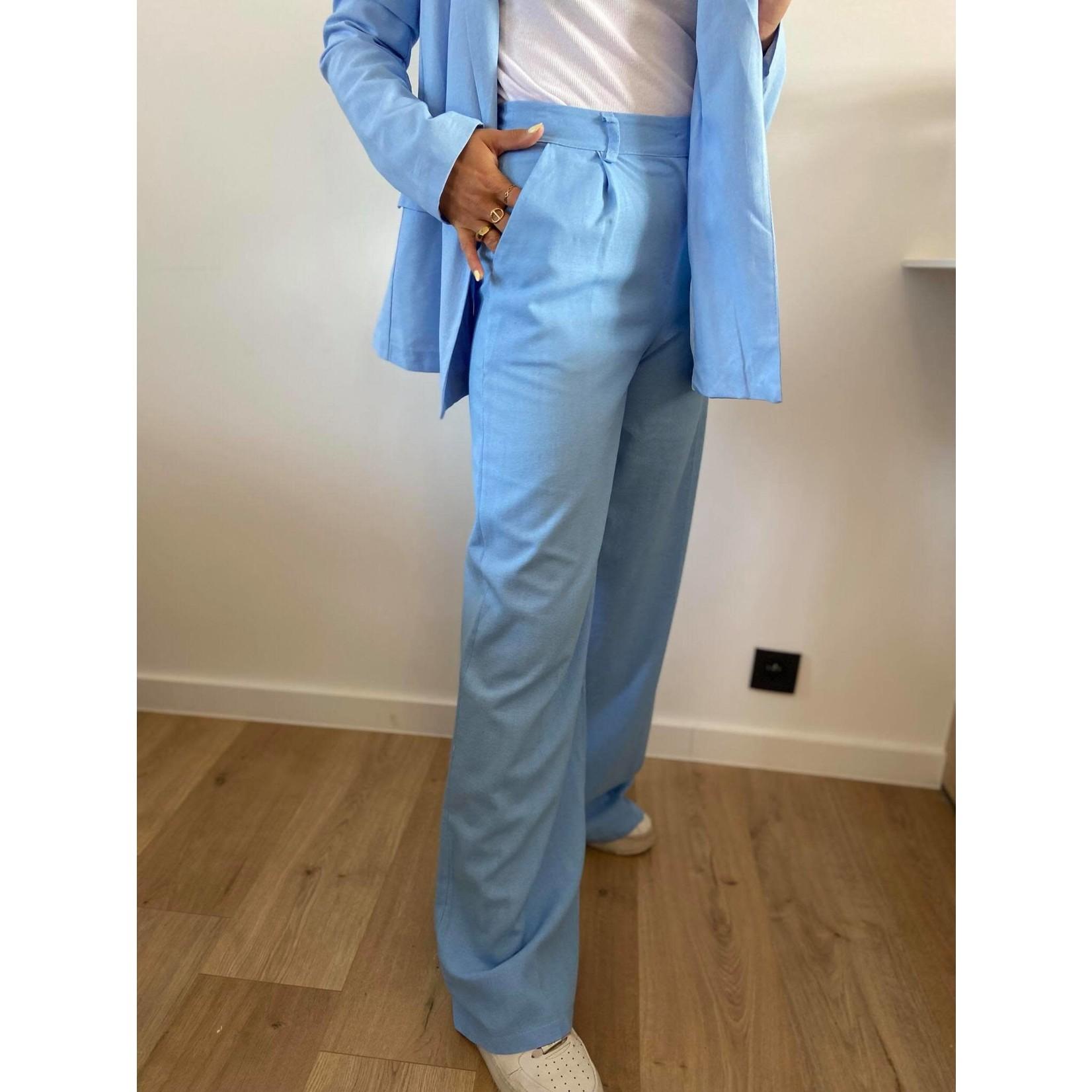 Line pants blauw