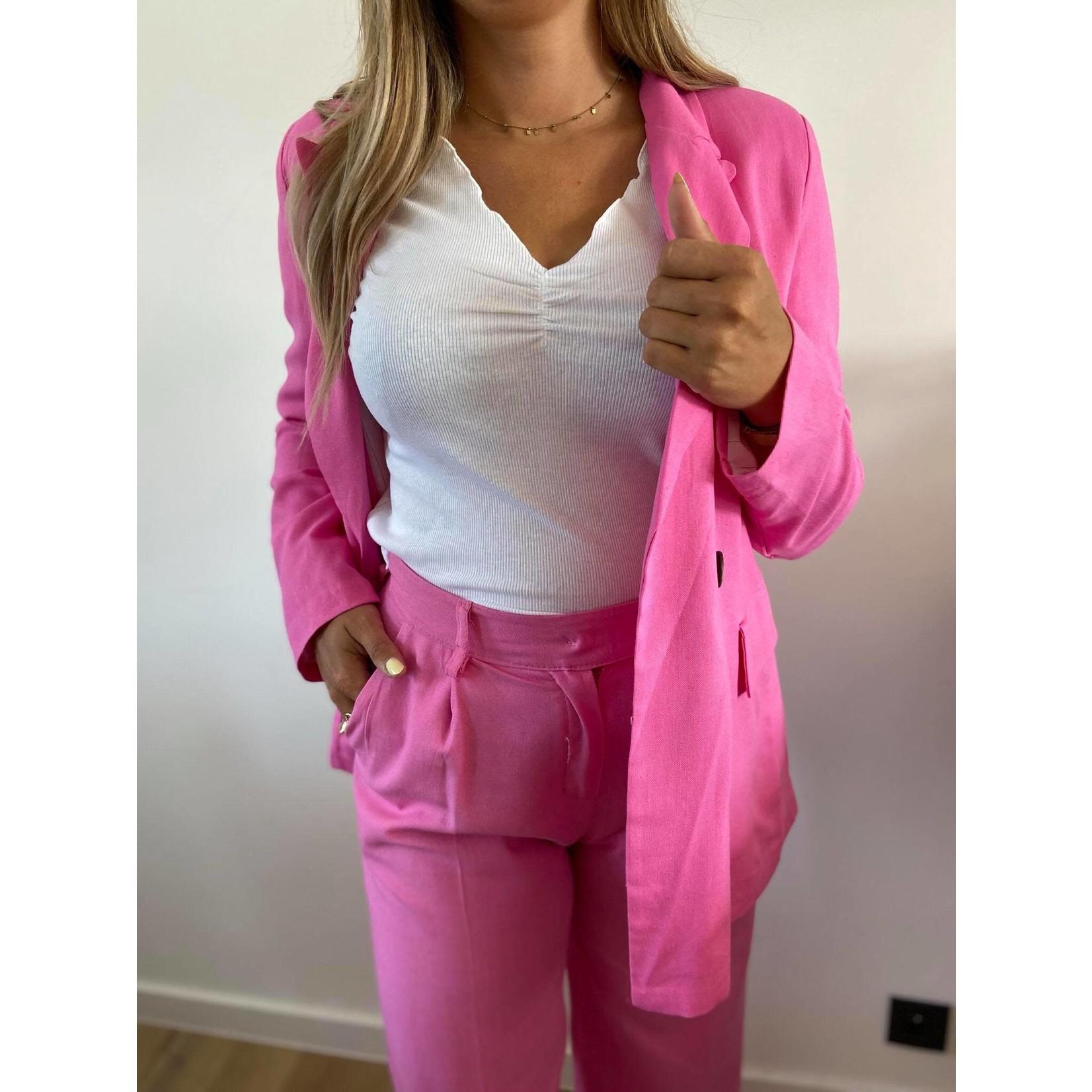 Line pants bubble gum
