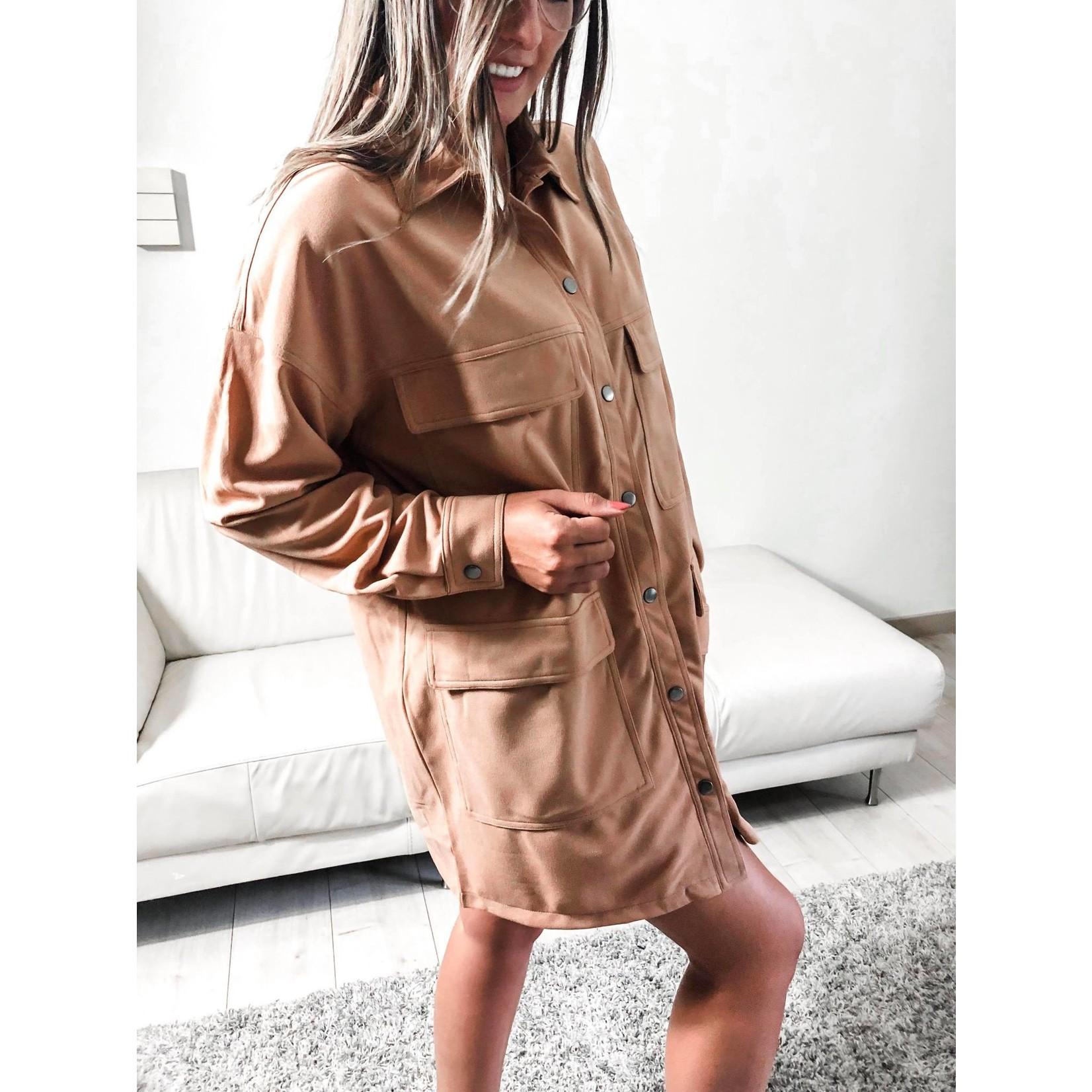 Shirt dress beige