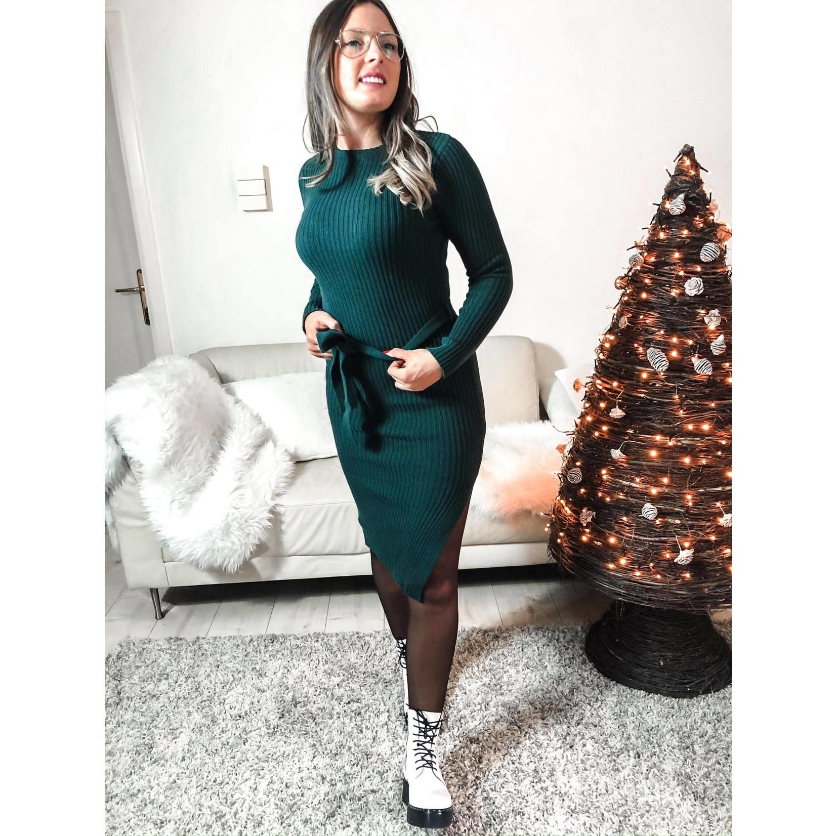 Nina dress emerald green