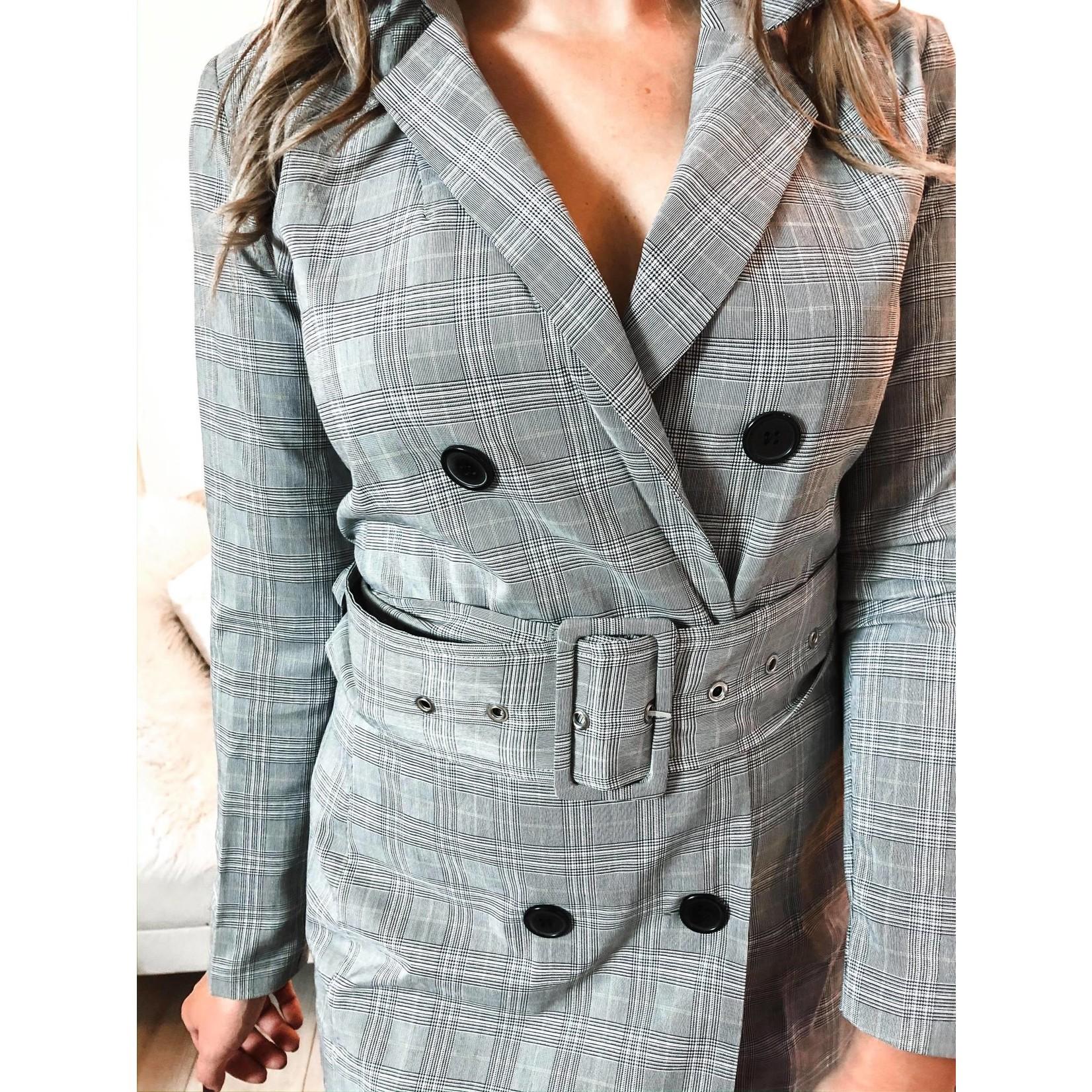 VENDELA BLAZER DRESS grey