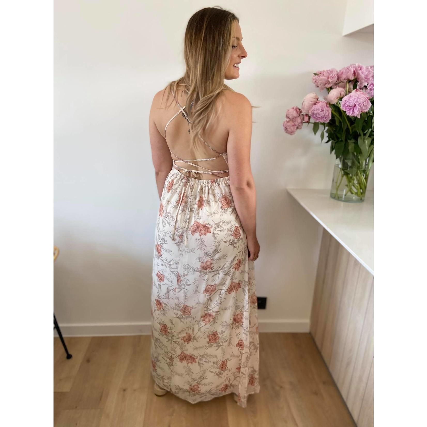 Vera maxi dress light flower