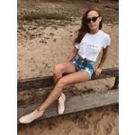 T-shirt Chérie white/red