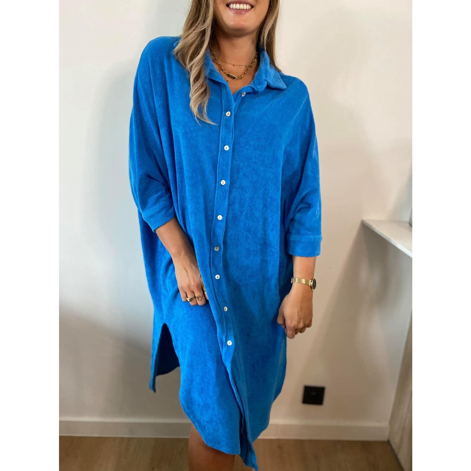 Towelling dress royal bleu TU