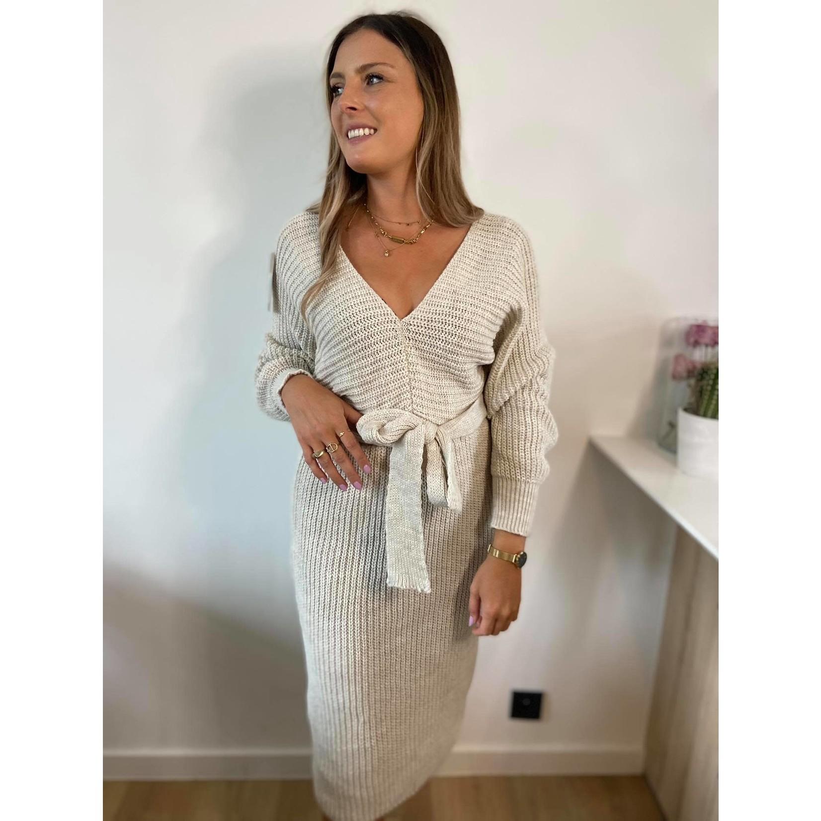 Knit dress jolie ecru TU
