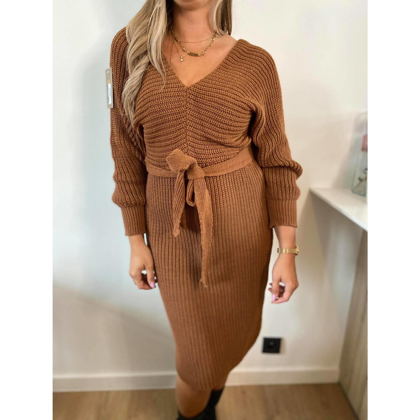 knit dress jolie terracota TU
