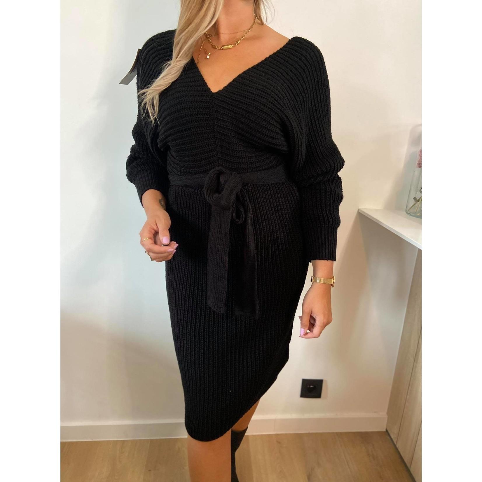 Knit dress jolie black TU