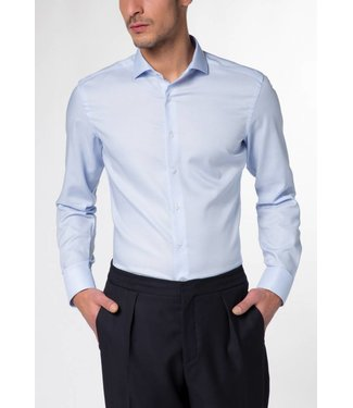 Eterna Eterna Slim fit Structur Blauw 8603.12.F142