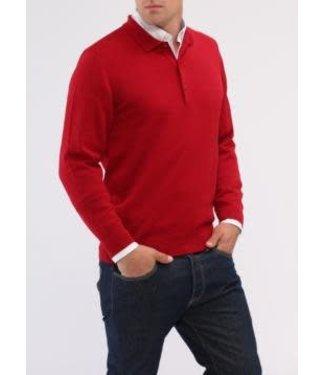 Maerz Maerz Button Polo shirt Rood 490700.440