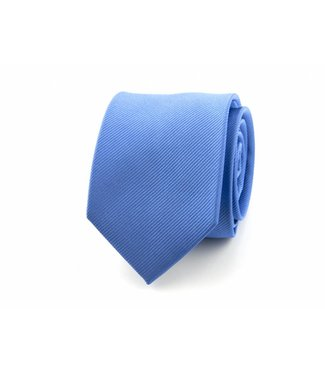 Stropdas Zijde Middenblauw 9100705A