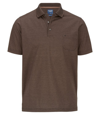 OLYMP OLYMP Modern Fit Polo Bruin 5402.52.25