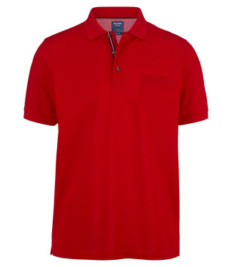 OLYMP OLYMP Modern Fit Polo Rood 5401.52.33