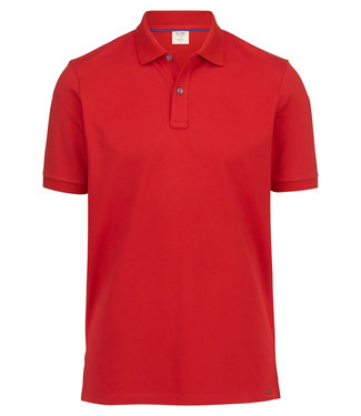 OLYMP OLYMP Body Fit Polo Rood 7500.12.35