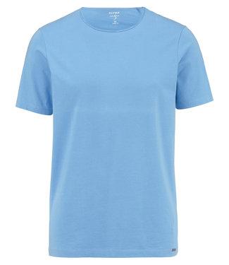 OLYMP OLYMP Body Fit T-Shirt L.Blauw 5660.32.15