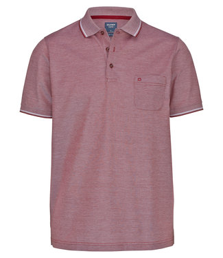 OLYMP OLYMP Modern Fit Polo  D.Rood 5400.72.39