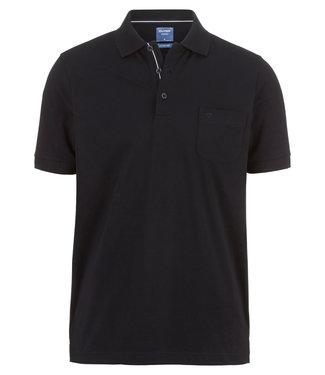 OLYMP OLYMP Modern Fit Jersey Polo  Zwart 5400.52.68