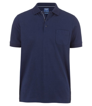 OLYMP OLYMP Modern Fit Jersey Polo D.Blauw 5400.52.18