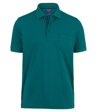 OLYMP OLYMP Modern Fit Jersey Polo  Groen 5400.52.48