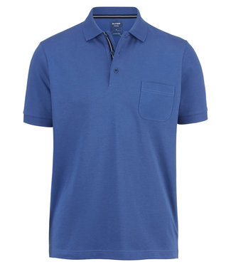 OLYMP OLYMP Modern Fit Jersey Polo Blauw 5400.52.15
