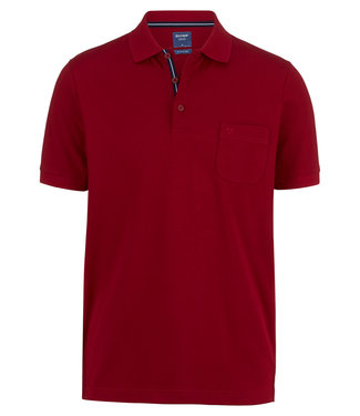 OLYMP OLYMP Modern Fit Jersey Polo D.Rood 5410.52.39