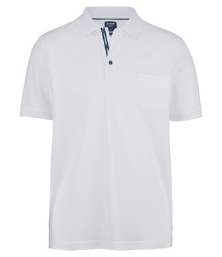 OLYMP OLYMP Modern Fit Jersey Polo Wit 5400.52.00