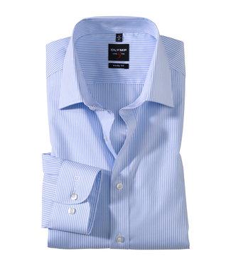 OLYMP OLYMP Body Fit Overhemd L.Blauw/Streep 4084.64.11
